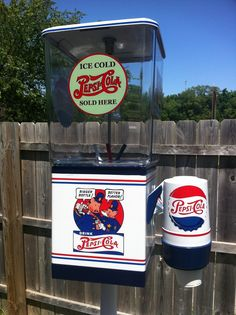 "VINTAGE RESTORED ""PEPSI COLA"" GUMBALL MACHINE WITH STAND!!!"