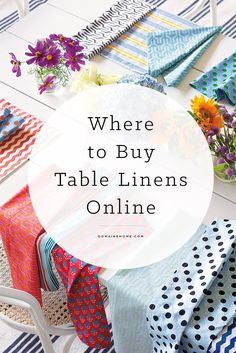 Where to buy chic table linens when shopping online