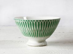 vintage Green  BOWL cafe au lait