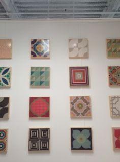 Amazing wood floor tiles by South Carolina's Mirth Studios. #hpmkt #stylespotters #mirthstudios (I-747, Mirth Studios)
