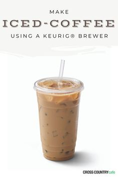 Keurig® Iced Mocha Recipe Learn how to make a banging iced mocha using your Keurig® K-Cup® coffee brewer! The results are the exact same as the ones you buy in a can or jar at the store. But, this version lower in calories and WAY cheaper! Iced Mocha Coffee, Best Iced Coffee, Iced Coffee At Home, Iced Coffee Drinks, Coffee Drink Recipes, Easy Coffee, Starbucks Drinks, Healthy Iced Coffee, Iced Coffee Keurig