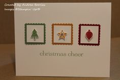 Snippets: Clean and simple Christmas cards