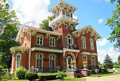 Дом  в  викторианском  стиле, США, штат  Огайо.
