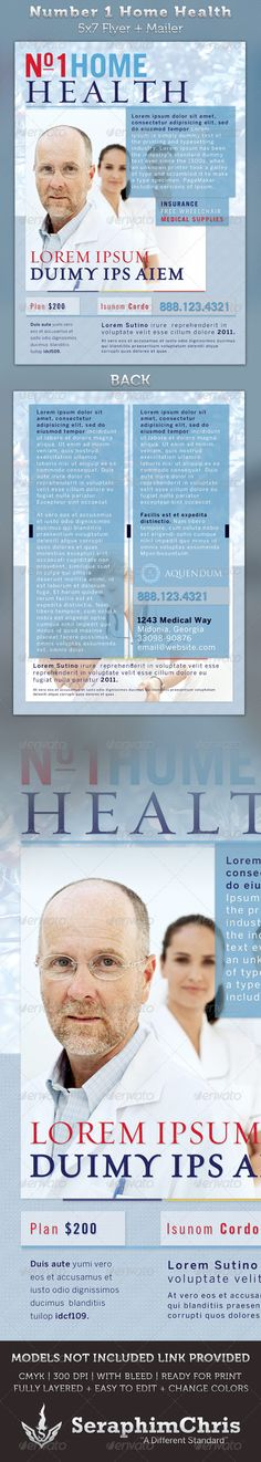 Home Health 5x7 Medical Healthcare Flyer & Mailer | Medical ...