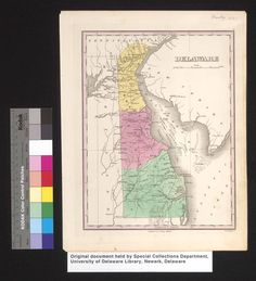 Maps of Delaware and the Mid-Atlantic Region, drawn from the Historic Map Collection in the Special Collections Department of the University of Delaware Library, includes several hundred sheet maps representing Delaware, Maryland, New Jersey, Pennsylvania, New York, Virginia, West Virginia, and Washington, D.C.