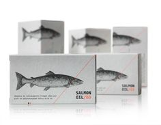 Salmon Oil by mousegraphics  #packaging #unique #creative #design #branding #marketing #JablonskiMarketing #inspiration