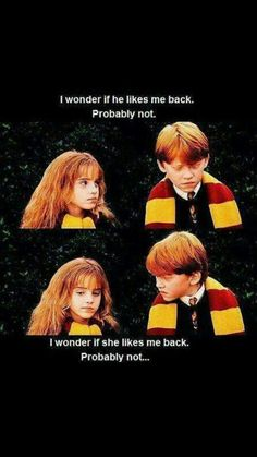 The first 6 years of Ron Weasley and Hermione Granger's friendship...