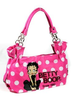 Betty Boop Polka Dots Faux Leather Satchel Handbag - 3 Colors: Amazon.com: Clothing