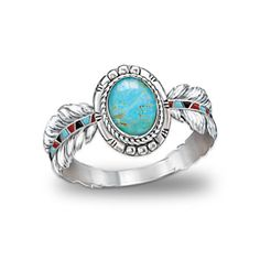 Native American-Inspired Sterling Silver And Turquoise Ring ~ The Bradford Exchange