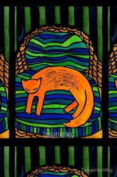 """""""Orange Cat in the B"""