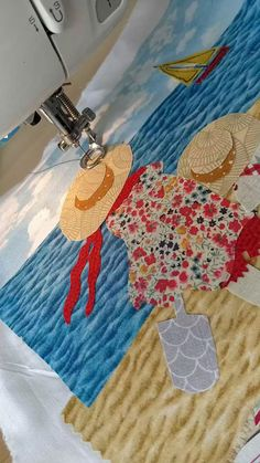 I love Faye Whittaker's art and heres my homage to her beautiful designs. Freehand Machine Embroidery, Free Motion Embroidery, Free Machine Embroidery, Free Motion Quilting, Hand Embroidery, Applique Patterns, Applique Quilts, Quilt Patterns, Sewing Patterns