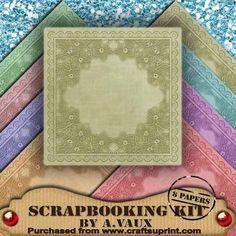 Floral Embossed Pastels 8 Scrapbooking Papers Kit on Craftsuprint - Add To Basket!