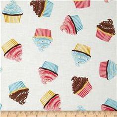 Riley Blake Designer Novelty Cupcake Cream