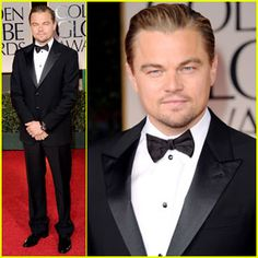 Best dressed male at Golden Globes goes to: Leonardo DiCarprio...who coincidentally is repeatedly overlooked at all award shows. sad. he's brilliant.