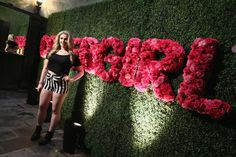 An eye-catching press wall spelled out CoverGirl's name in flowers. Photo: Mark David/MTV1415