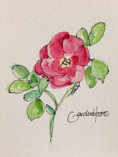 Roses Beautiful Roses Watercolor Card by gardenblooms on Etsy Watercolor Cards, Watercolor And Ink, Watercolour Painting, Watercolor Flowers, Painting & Drawing, Watercolours, Watercolor Portraits, Watercolor Landscape, Decoupage Vintage
