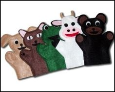 Animal Hand Puppets by Trina Gerard