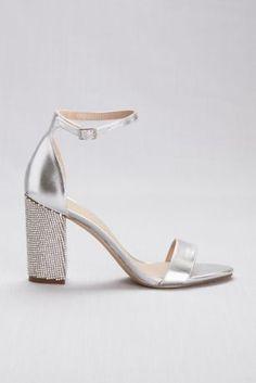 f5dd53df37e Embellished Block Heel Ankle Strap Sandals