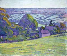 Robert Bevan (1865‑1925), A Devonshire Valley, 1913. Oil paint on canvas, 51 x 61 cm. © Bridgeman Art Library/Royal Albert Memorial Museum, Exeter, Devon, UK