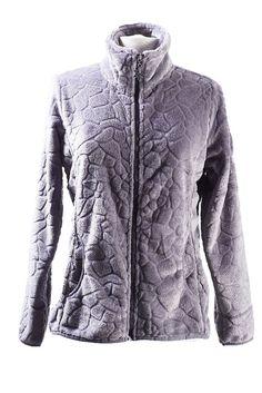veste polaire femme lauziere gris argent