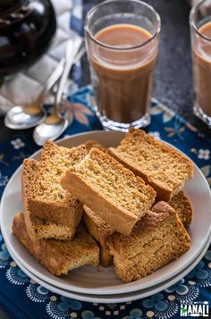Crispy twice baked toasts, rusks are best enjoy with chai! Find the recipe on www.cookwithmanali.com