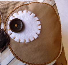 Handmade Owl Plush Eye by Cut Paste Create, via Flickr