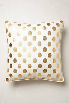 "Luminous Dots Pillow also anthropology 18"" square. I like the shape and color of the other one better as long as it matches"
