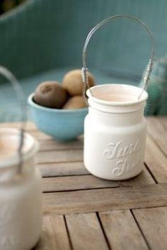 ceramic mason jar, lovely