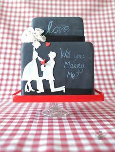 Chalk board wedding cake www. Chalkboard Wedding, Marry You, Chalk Board, Heavens, Drink Sleeves, You And I, Wedding Cakes, You And Me, Slate