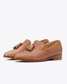 Frida Loafer Woven Brown | Nisolo