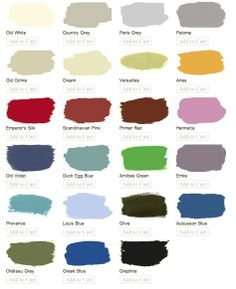 a must do soon!  anne sloan chalk paint... so I can paint some old furniture.. I can't wait!