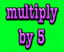 Math song- multiply by 5 -- There are a lot of song videos on this site.