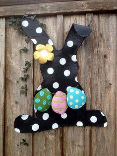 Easter Bunny with Pastel Eggs Door Decor Wreath by doornament, $60.00