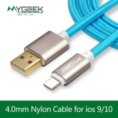 MyGeek Top Quality USB Charging Cable For iPhone 5 5s 6s 6 7 Plus Mobile Phone cable Data Sync Adapter 2m Wire for ios 9 10 -- You can get more details by clicking on the image.