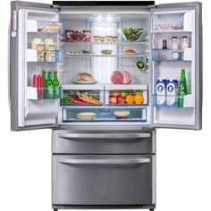 Rangemaster 10814 DXD15 American Fridge Freezer With Water Dispenser Cream
