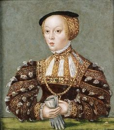 Miniature of Elisabeth of Habsburg, 1565, Lucas Cranach workshop