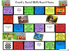 """Game-like social skills methods for kids with autism, Part 2: Make your own social skills game from """"Autism Teaching Strategies"""". Pinned by SOS Inc. Resources.  Follow all our boards at http://pinterest.com/sostherapy  for therapy resources."""