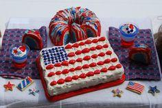 American Girl Doll Food - Custom Patriotic Listing