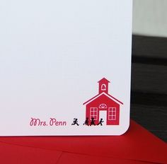 Personalized teacher stationary