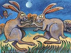 Mad March Hares! March Hare, English Artists, My Animal, Animal Paintings, Welsh, Disney Characters, Fictional Characters, Mad, Animals