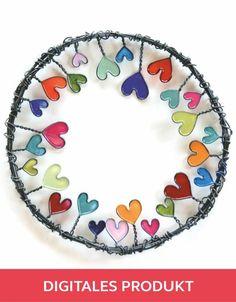 2018 wire wreath with nail polish, DIY, hearts: Instructions polish - Muttertag - nagellack Diy Jewelry Unique, Diy Jewelry To Sell, Diy Jewelry Holder, Diy Jewelry Tutorials, Diy Jewelry Making, Diy Crafts To Sell, Saint Valentin Diy, Cute Nail Art Designs, Diy Nail Polish