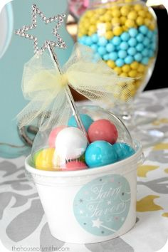 fairy princess candy cup favors