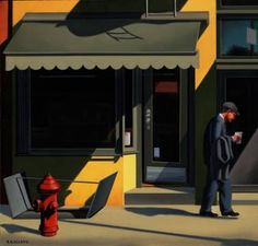 """Kenton Nelson """"The Yellow Store"""""""