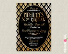 PRINTABLE Roaring 20's Black and Gold Party by littlecelebrations, $13.00