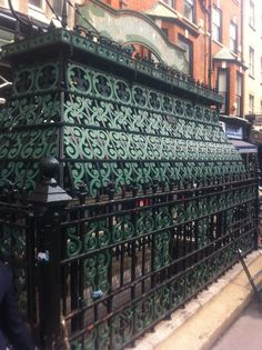 Stunning ironwork cage at Foley Street, outside The Crown & Sceptre pub in Fritzrovia, London Capital City, Cage, The Outsiders, To Go, England, Crown, London, The Originals, Coffee