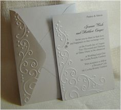 Embossed Wedding Invitations
