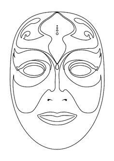 1000 images about maskers maken on pinterest google for Kabuki mask template