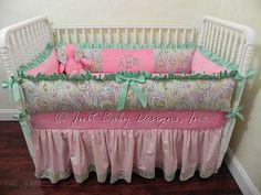 Girl Baby Bedding Set Ashley  Baby Girl Crib by BabyBeddingbyJBD