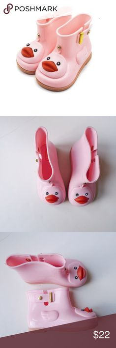 Mini Melissa style pink Duck Girl Rain Boots Size  11 Made in China  Condition  c8331ffa90cc