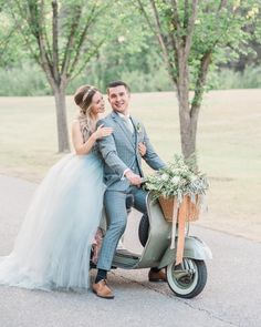 A sweet ride on your special day. We had lots of fun with this lovely soft sage green Vespa at our Italian shoot!  The vendor team that brought this shoot to life is awesome. From booking park permits to loading in and out (just after sunset!) we worked this inspiration together and it paid off.  This was featured in @confettiwedmag print last year and the team couldn't be more proud...until yesterday. Haha when we happened to notice the lead photo in @jillian.harris blog about postponing… Summer Wedding Decorations, Summer Weddings, Wedding Designs, Wedding Styles, Jillian Harris, Vespa, Special Day, Sage, Life Is Good